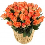 send basket of orange roses delivery