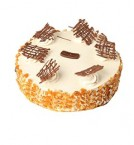 send Eggless Butterscotch Cake Half Kg  delivery