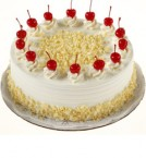 send 1Kg White Forest cake delivery