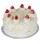 send 1Kg Eggless White Forest cake delivery