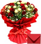 send Red Ferrero Rocher Chocolates n Red Roses Bouquet delivery
