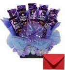 send Big Dairy Milk Chocolates Bouquet delivery