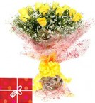 send 10 Yellow Roses Bouquet  delivery