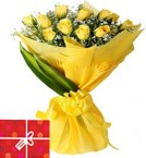 send 15 Yellow Roses Bouquet  delivery