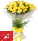 send 20 Yellow Roses Bouquet delivery
