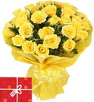 send 25 Yellow Roses Bouquet delivery
