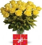 send 35 Yellow Roses Bouquet delivery