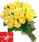 send 40 Yellow Roses Bouquet delivery