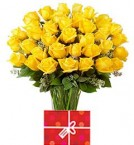 send 45 Yellow Roses Bouquet delivery