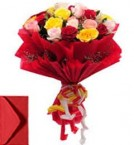 send 20 Mix Roses Bouquet  delivery