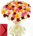 send 45 Mix Roses Bouquet delivery