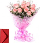 send 10 Pink Roses Bouquet delivery