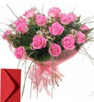 send 15 Pink Roses Bouquet delivery