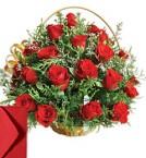 send 25 Red Roses basket delivery
