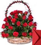 send 40 Red Roses Basket delivery