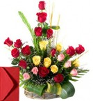 send 25 Mix Roses Bouquet delivery