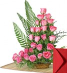 send 25 Pink Roses Bouquet delivery
