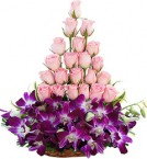 send 20 Pink Roses Bouquet delivery