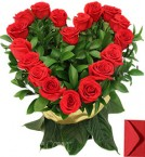 send Heart Shaped Arrangement of 20 Red Roses delivery