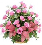 send 25 Red Roses Basket Gifts delivery