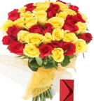 send 25 Red Yellow Roses delivery