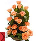 send 20 Orange roses bouquet delivery