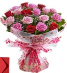send 15 Red Pink Roses Gift delivery