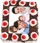 send 1Kg Black Forest Photo Cake delivery
