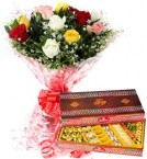 send Assorted Sweet Box Mix Roses Bouquet delivery