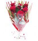 send 6pcs Red Roses Bunch delivery