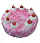send Eggless Strawberry Cake Half Kg  delivery
