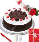 send Half Kg Black Forest Cake Greeting Card delivery