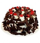 send Half Kg Just Baked Black Forest Eggless Cake delivery