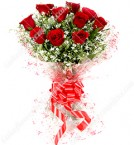 send Fresh Floral Greeting Bunch Of 10 Red Roses delivery