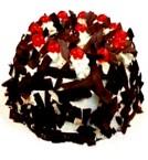 send 1Kg Fresh Black Forest Eggless Cake delivery