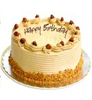 send half Kg Eggless Butterscotch Cake delivery