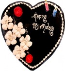 send Heart Shaped Chocolate Eggless Cake delivery
