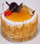 send 1Kg Butterscotch Magic Eggless Cake delivery