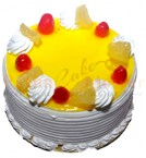 send Pineapple Eggless Cake 500gms delivery