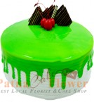 send Kiwi Fruit Flavour Eggless Cake 500gms delivery