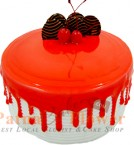 send Strawberry Eggless Cake 500gms delivery