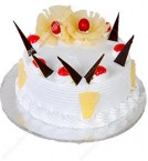 send Yummy Fresh Cream Pineapple Eggless Cake delivery
