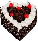 send Half Kg Rich Heart Shape Blackforest Cake delivery