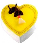 send Rich Pineapple Heartshape Cake delivery