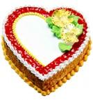 send Heart Shape Butterskotch Jelly Cake delivery