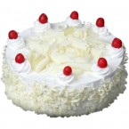 send 1Kg White Chocolate White Forest Cake  delivery