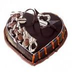 send 1 Kg Heart Shape Chocolate Cake  delivery