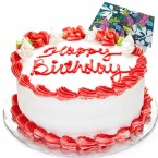 send strawberry cake 500gms  delivery