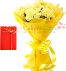 send 10 Yellow carnations  delivery