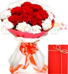 send Red n White Carnations delivery